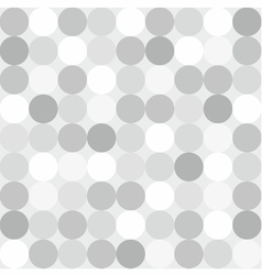 Tile pattern with big white grey and black polka vector