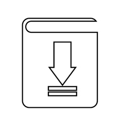 Electronic book download isolated icon design vector