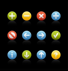 icon set navigation buttons vector image
