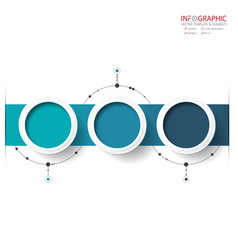 Abstract element infographics 3 option design for vector