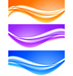 Abstract soft light waves set vector