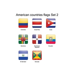 American countries flags Set 2 vector image