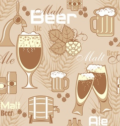 Beer seamless background vector