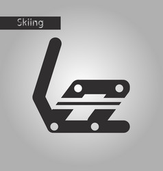 black and white style icon snowboard binding vector image vector image