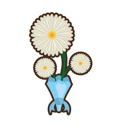 Bouquet daisy flower ornament image vector
