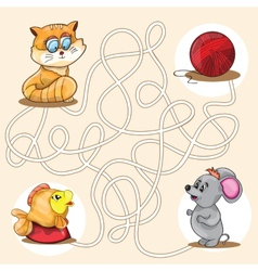 Cartoon of Education Maze vector image