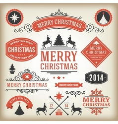 Christmas decoration design elements collec vector image for Christmas decoration 94