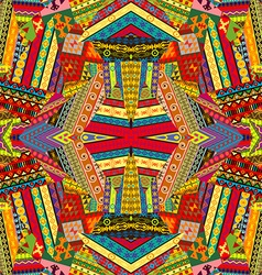 Colorful ethnic patchwork design vector image vector image