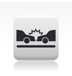 crash icon vector image vector image