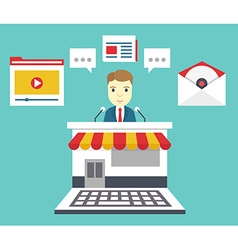 Customer relationship management means of vector