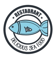 delicious sea food isolated icon design vector image