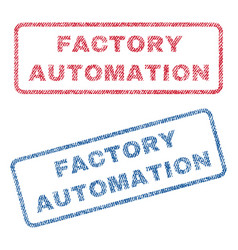 Factory automation textile stamps vector