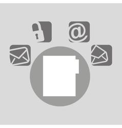 file bubble speech social media vector image