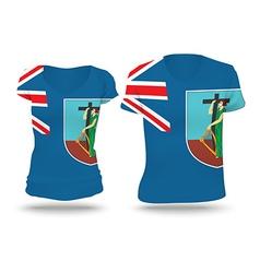 Flag shirt design of montserrat vector