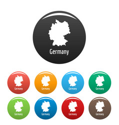germany map in black set simple vector image