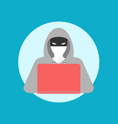 hacker icon simple colors vector image