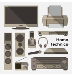 Home technics set vector image