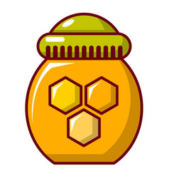 Honey pot icon cartoon style vector