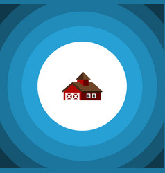 Isolated ranch flat icon shed element can vector