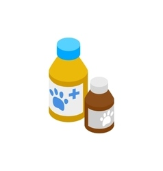Medicine for animals icon isometric 3d style vector image vector image