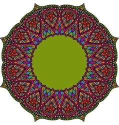 Multicoloured indian mandala tribal element in vector