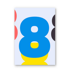 Number 8 poster vector