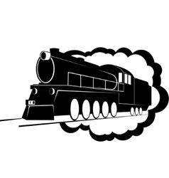 Old steam locomotive-2 vector