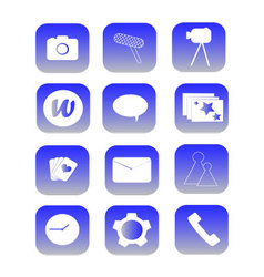 Phone Icons blue vector image vector image