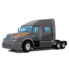Semi truck vector image