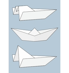 set of paper boats origami vector image vector image