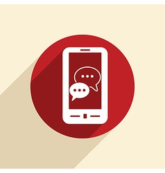 smartphon cloud of speaking dialogue vector image vector image