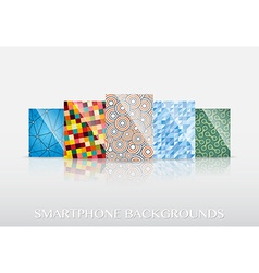 Smartphone wallpapers vector image vector image