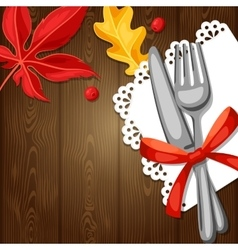 Thanksgiving day greeting card background with vector