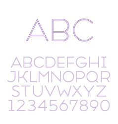 font grotesque inline thin vector image