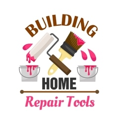 Home building and repair work tools icon vector