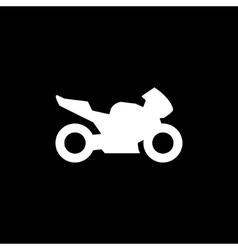 Sport motorcycle icon vector image
