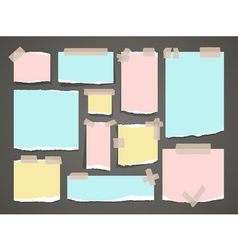 Important yellow and red notes organized office vector