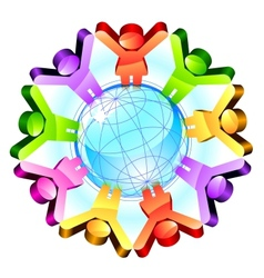 Global friendship concept vector