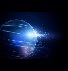 abstract image of a planet earth background vector image