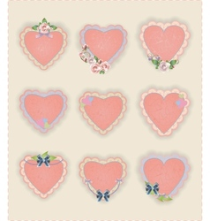 Heart stickers vector