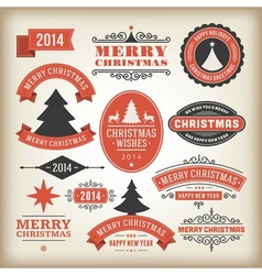 Christmas decoration design elements collec vector