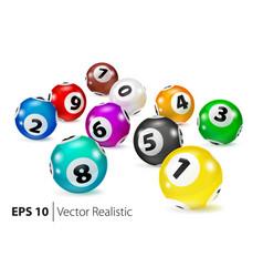Colorful bingo balls lie in random order vector
