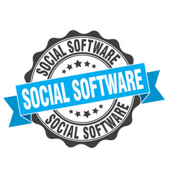 Social software stamp sign seal vector