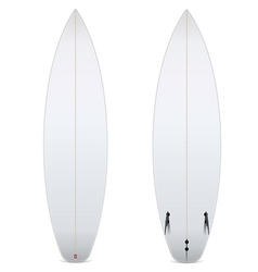 Two-sided blank surfboard vector