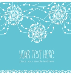 Template of greeting card with flowers vector