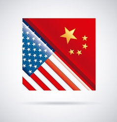 China and usa design vector