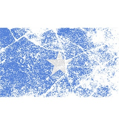 Flag of somalia with old texture vector