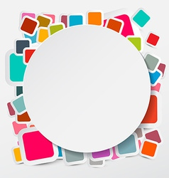 Paper Circle on Colorful Square Round Rectangles vector image