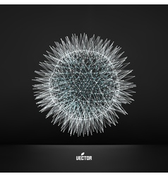 3d sphere technology concept vector