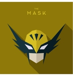 Hero in the yellow mask defender flat vector